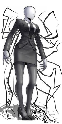 SlenderWoman by M-Zoner on DeviantArt Thicc Anime, Anime Furry, Chica Anime Manga, Creepypasta Cute, Creepypasta Characters, Female Monster, Monster Art, Horror Movie Characters, Female Characters