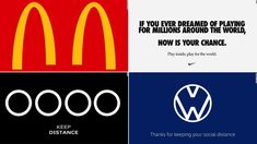 McDonald's and other brands are making 'social distancing' logos — CNN Business Slogan, Christian Dior, Leadership, Times Square, Branding Design, Logo Design, Corporate Branding, Graphic Design, Design Fields