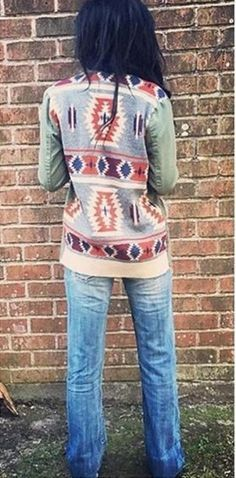 Diné jacket w/ pistachio sleeves Mode Country, Country Girl Style, My Style, Western Outfits, Western Wear, Western Style, Cowgirl Outfits, Western Dresses, Cowgirl Mode