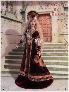 History doll by Bethboul Barbie Gowns, Barbie Dress, Barbie Clothes, Renaissance Fashion, Renaissance Clothing, Barbie Costume, Barbie Fashionista, Period Costumes, Barbie Friends