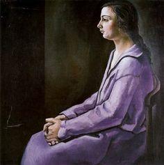 Retrato de la hermana del artista - Salvador Dalí 1925. Óleo sobre lienzo. 99 x 99 cm. Museo Nacional Centro de Arte Reina Sofia. Madrid. España. Donación de Dalí al Estado español.