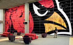 The new Cardinals Stadium environmental graphics by Pentagram.