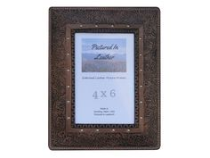 $48 You'll want to check out this awesome leather picture frame, 4x6, embossed with a mountain scene. Perfect Christmas gift for your dad or a birthday gift for him!