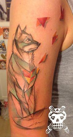 wolf tattoo by yadou