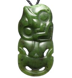 This is a large New Zealand greenstone traditional hei tiki necklace. It has been hand crafted from a piece of deep fern green jade, with paua shell eyes. Maori Tribe, Maori Designs, Maori Art, Paua Shell, Kiwiana, Bone Carving, Pyrography, Shades Of Green, New Zealand