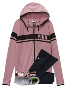 """""""Cute jacket"""" by hgw8503 ❤ liked on Polyvore featuring NIKE, Essie, Casetify, NARS Cosmetics, Kate Spade, Kendra Scott, Lilly Pulitzer and S'well"""