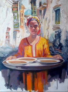 لوحه للفنان محمد جبار الخطاط   ( العراق )