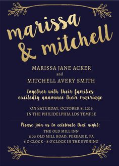 Classic wedding invitations with a touch of gold and beautiful typography #weddinginvitations #weddings #weddinginspiration