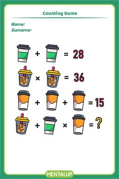 Just click on the pin and find more math printables to boost your skills!🥳 8th Grade Math Games, Brain Training Games, Brain Activities, Educational Games, Algebra, Fun Workouts, Worksheets, Printables, Student