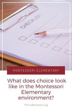 What does choice look like in Montessori Elementary?