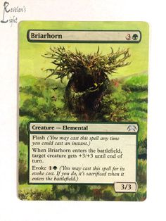Briarhorn - Extended - MTG Alter -Revelen's Light Altered Art Magic Card #WizardsoftheCoast