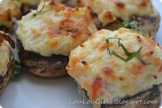 Crab Stuffed Mushrooms, a yummy appetizer for Thanksgiving!