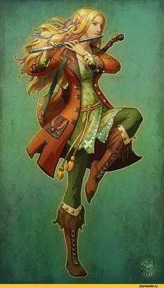 красивые картинки,арт барышня,арт девушка, art барышня, art девушка,,арт,Бард,эльфийка,танцы