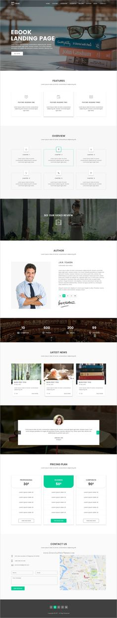 Page is clean and modern design #Photoshop template for #selling #books landing page website download now➩ https://themeforest.net/item/page-ebook-selling-template/19751218?ref=Datasata