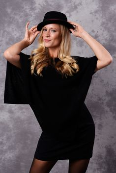 Poncho - Dress Topper - BLACK - product images of Poncho Dress, Pashmina Wrap, Cashmere Poncho, Summer Evening, Classic, Collection, Black, Dresses, Fashion