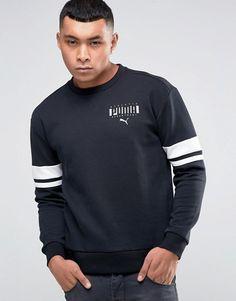 Puma | Puma Logo Crew Sweatshirt In Black 83833601