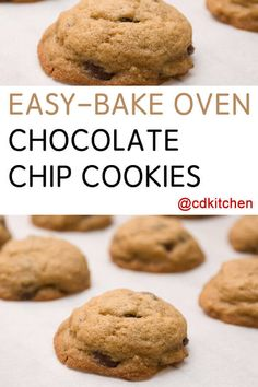 Easy Bake Oven Chocolate Chip Cookies Recipe from CDKitchen Easy Bake Oven Chocolate Chip Cookies Recipe from CDKitchen Janie Daughtry daughtryjanie My Girls eat Easy Bake Oven Chocolate Chip nbsp hellip chip cookies with margarine Easy Baking Recipes, Easy Cookie Recipes, Oven Recipes, Dessert Recipes, Cooking Recipes, Easy Bake Oven Sugar Cookie Recipe, Delicious Desserts, Baking Desserts, Baking Cupcakes