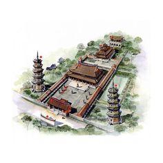 文史網 – 這位台灣人用剖視圖畫的中國古建築,美得讓人驚艷! 南宋 明 福建泉州開元寺