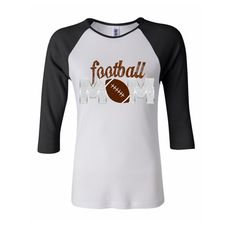 Football Mom Shirt / Transfer by TheIronTractor on Etsy, $5.00