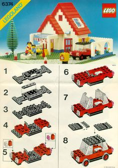 LEGO 6374 House/Villa from the 80s with red car