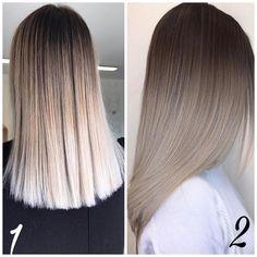 Die 10 Besten Lange Frisuren mit glattem Haar – Beige & Asche Farbe Ideen //