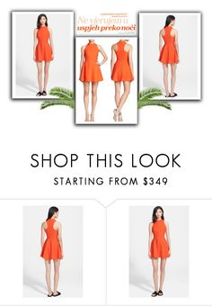 """#look107 #orange"" by sweetdreamj ❤ liked on Polyvore featuring Elizabeth and James"