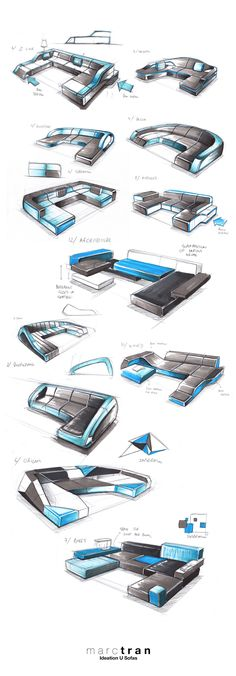 This is part of my freelance work for IqLabels, manufacturer of furniture.Hand sketches with ball point pen and markers