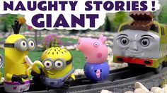 Giant Minions and Peppa Pig Thomas and Friends Naughty Stories | Juguete...