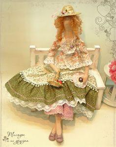 Tilda dolls, angels tilde and their friends - bunny, cat and teddy bear