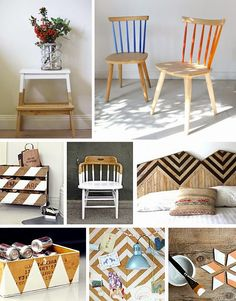 Casa de Colorir: Meio a meio (ideias para pintar móveis sem cobri-los totalmente)