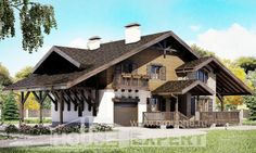 270-001-L Two Story House Plans with mansard roof with garage under, spacious Home House