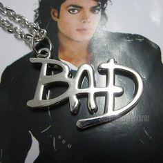 Fancy Michael Jackson BAD Silvery Style Pendant MJ Necklace - http://www.michael-jackson-memorabilia.com/?p=3592