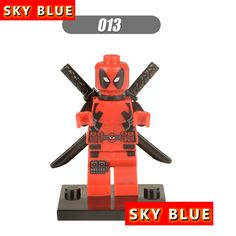 189 190 White Red Deadpool individual minifigure super hero compatible With Lego DIY Children Kids Toys Birthday Gifts Present