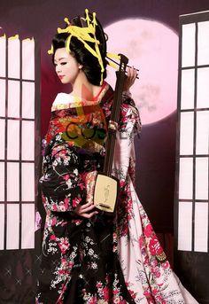 Sakuran Hand Made Cosplay Costume Kimono Set  Free by Cosrea
