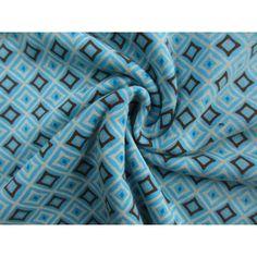 Stenzo tricot  square aqua/brown