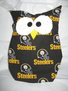 Hooters Stuffed Owl Pillow  featuring  Pittsburg by sweetpitas, $14.00