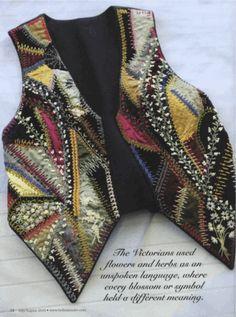 Crazy quilt vest inspiration