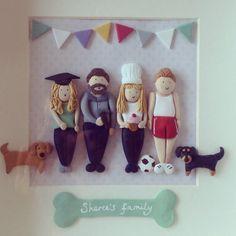 Custom clay family portrait