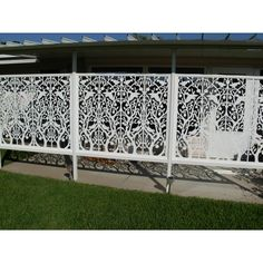 diy pvc Acurio Latticeworks Tree of Life 32 in. x 4 ft. White Vinyl Decorative Screen - The Home Depot Patio Privacy Screen, Privacy Fence Designs, Privacy Screens, Modern Garden Design, Contemporary Garden, Diy Garden Fence, Patio Fence, Garden Ideas, Decorative Screen Panels