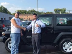 Mike went home in a brand new 2016 Jeep Wrangler! We're happy that you found what you were looking for at Lebanon Chrysler Dodge Jeep Ram! #JeepLife #WeCan #Wrangler #Upgrade