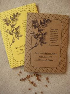 DIY Seed packets