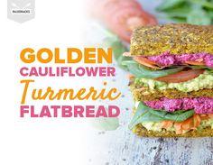 Golden Cauliflower Turmeric Flatbread | Grain-Free, Paleo