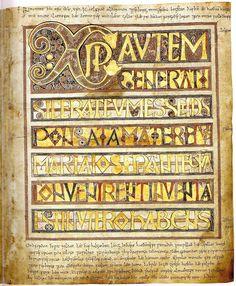 "Illuminated Manuscript - Stockholm Codex Aureus (Stockholm, Swedish Royal Library, MS A. 35, also known as the ""Codex Aureus of Canterbury"") VIII cent., Canterbury."