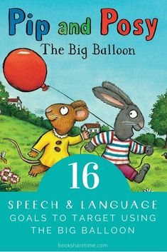 Have a look at the speech and language goals you can target in speech therapy using The Big Balloon by Axel Scheffler Grammar Activities, Speech Therapy Activities, Language Activities, Book Activities, Speech Language Therapy, Speech And Language, Speech Pathology, Best Children Books, Childrens Books