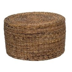 Kosas Home Ira Round Coffee Table (Rattan Round Coffee Table), Brown