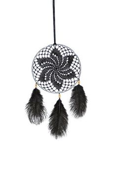 Black crochet dreamcatcher  #dreamcatcher , #crochetdreamcatcher , #lacedreamcatcher , #bohodreamcatcher , #bohostyle , #bohochic , #boho , #hippiedecor , #bohemianstyle , #makatarinacorner , #etsyshop , #crochetinglove , #crochetart , #homedecor , #design , #homesign , #walldecor