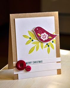 Merry Christmas Card by Maile Belles for Papertrey Ink (October 2014)