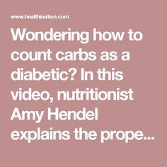 Wondering how to count carbs as a diabetic? In this video, nutritionist Amy Hendel explains the proper way to read labels and count carbs. To make sure your blood glucose levels aren't too high, it is important to balance a healthy diet and exercise with any medications you may take. Counting carbs is a great way to keep track of the amount of carbohydrates you eat and therefore control your blood glucose level.