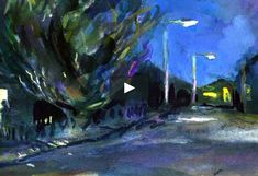 Hand painted silent story about walking around the streets in the dark. The Darkest, Walking, Hand Painted, Animation, Night, Street, Painting, Art, Art Background
