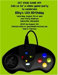 Arcade Video Games Birthday Party Invitation Jacks Th - Birthday invitation video